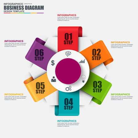financial statement: Infographic circular diagram design template. Can be used for workflow, cycle layout, business process, chart, infographic banner, teamwork, infographic elements, information infographics.