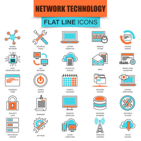 syncing: Set of thin line icons cloud data technology services, global connection, cloud computing. Modern mono flat linear concept pictogram, set simple outline icon, for designers. Collection flat line icon. Illustration
