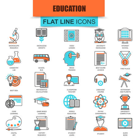 base: Set of thin line icons internet education and online course study, e-learning. Modern mono flat linear concept pictogram, set simple outline icon, symbol for web designers. Collection flat line icon.