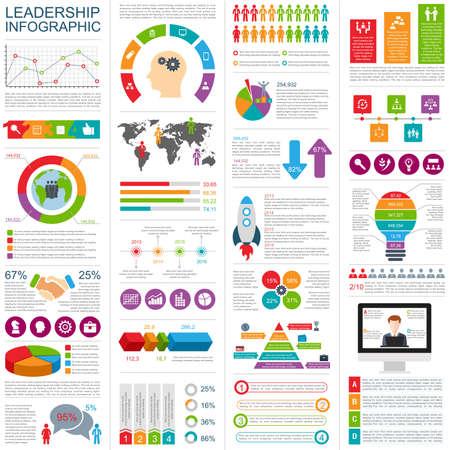 Set van infographic design template. Kan gebruikt worden voor workflow lay-out, het jaarverslag, zakelijk concept met 6 opties, tijdlijn, stappen of processen, teamwork, cyclus diagram, grafiek, web design. Stockfoto - 58385662