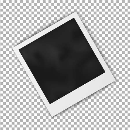 photography frame: Realistic blank photo frame frame isolated on transparent background, shadow effect and empty space for your photography and picture. Vector illustration.