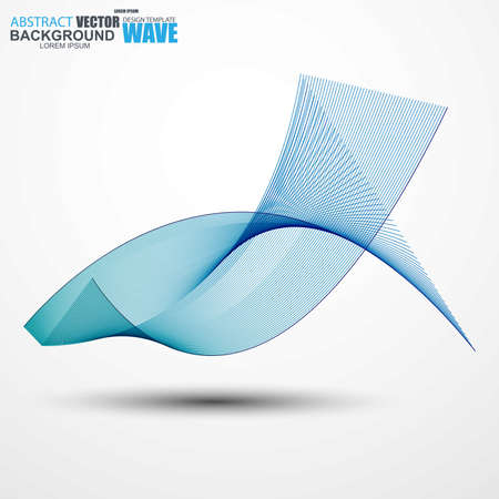 curve: Abstract wave curve lines background. Vector illustration.