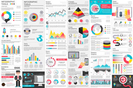Infographic business data visualization vector design template. Can be used for steps, options, parts or processes, workflow, diagram, chart, creative concept, marketing icons, info graphics.