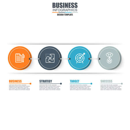 marketing concept: Infographic business step data visualization vector design template. Can be used for steps, options, parts or process, workflow, diagram, flowchart concept, marketing icons, info graphics.