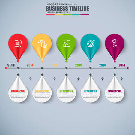 business graphics: Infographic business number options data visualization vector design template. Can be used for steps, options, parts or process, workflow, diagram, flowchart concept, marketing icons, info graphics. Illustration