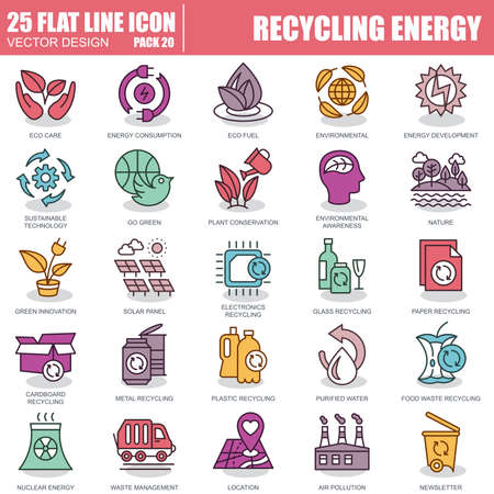 Thin line recycling, waste management, environmental protection, eco care icons set for website and mobile site apps. Pixel Perfect. Editable Stroke. Simple linear pictogram pack. Vector illustration.