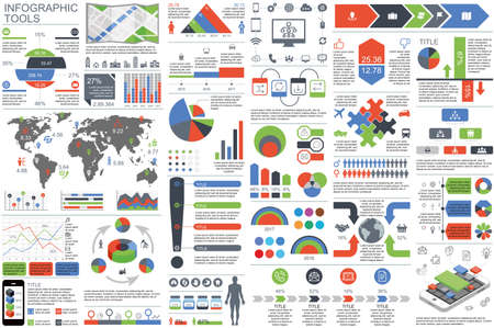 document: Infographic elements data visualization vector design template.
