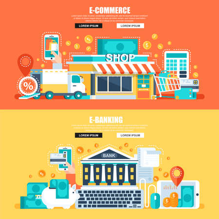 Conceptual vector illustration for web design, marketing, and graphic design.