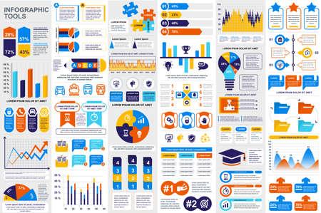Modèle de conception de vecteur de visualisation de données d'éléments d'infographie.