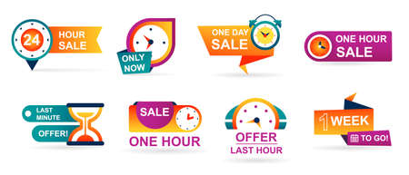 Set of sale countdown badges and stickers