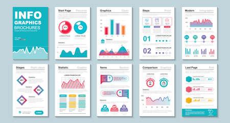 Infographic brochure data visualization vector design template.