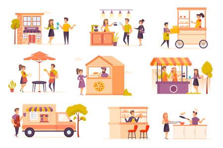 Small business cartoon vector illustration. 矢量图像
