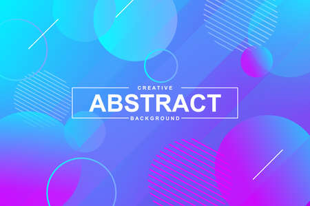 Abstract design with dynamic liquid shapes. Colorful fluid style background for landing page, web banner, wallpaper. Bright composition with gradients, wavy pattern with header vector Illustration.