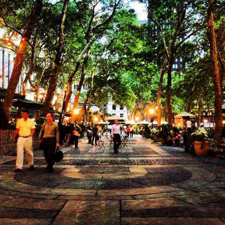 bryant park: Bryant Park NYC in the evening.