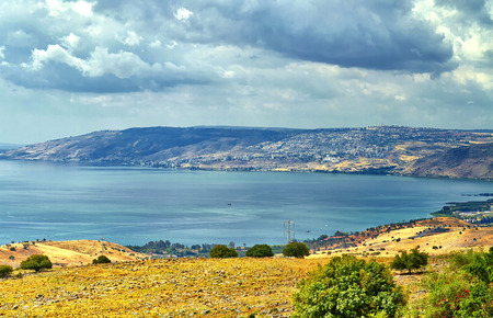 Sea view of the Galilee - kinneret lake from the mountain, Israel