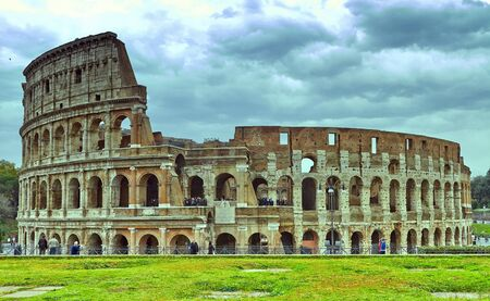 Rome-Italy, November 6, 2016. Colosseum in Rome, Italy. Ancient Roman Colosseum is one of the main tourist attractions in Europe.