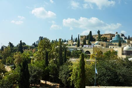 View of the Jerusalem district of Yemin Moshe, October 2019.