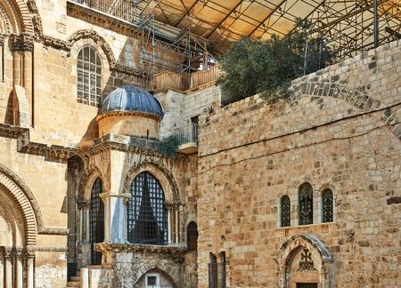 Church of the Holy Sepulchre in Old City. Is the most sacred place for all Christians in the world. Golgotha, Stone of Anointing, Grave.