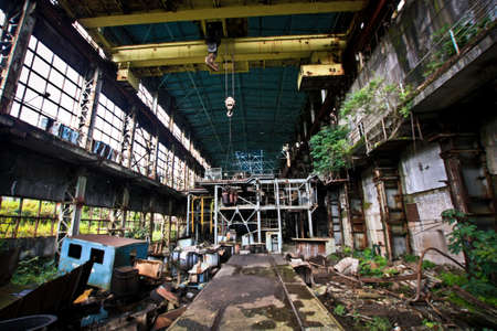 abkhazia: Abandoned power plant in Tkuarchal in Abkhazia