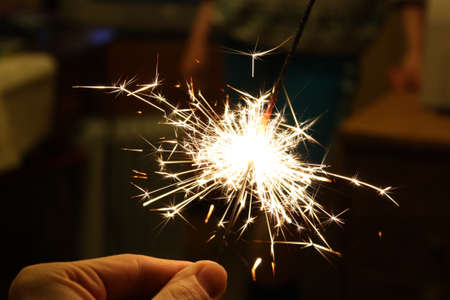 sparklers: Beautiful sparklers in New Year