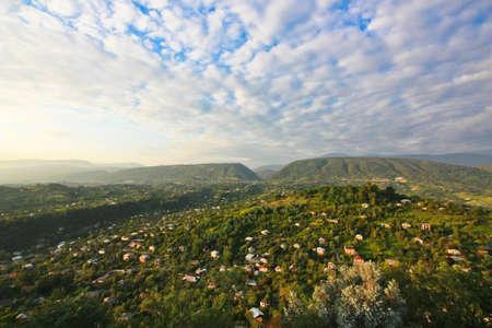 abkhazia: Blue sky and green mountains in Abkhazia