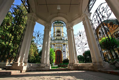 rotunda: View from rotunda to the old church