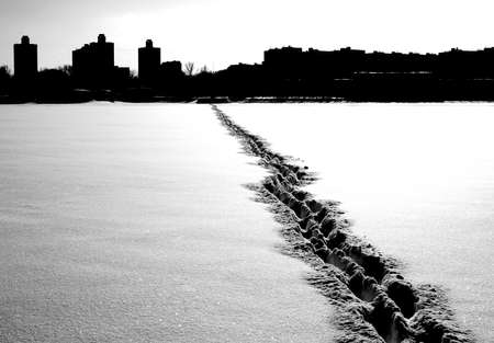 expanse: Single steps across the snowy expanse