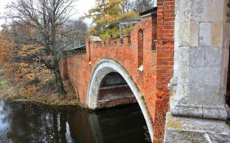 redbrick: Old red-brick bridge Stock Photo