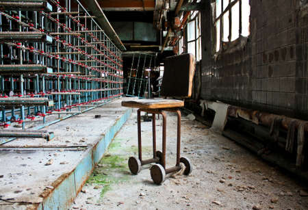 abandoned factory: Chair on the abandoned factory
