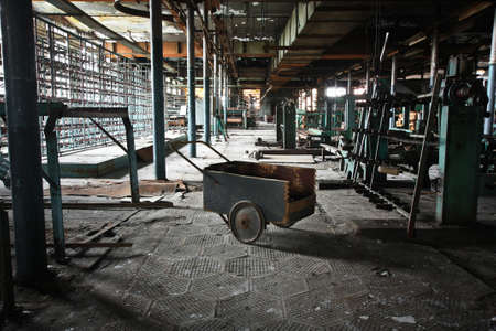 abandoned factory: Cart on the abandoned factory
