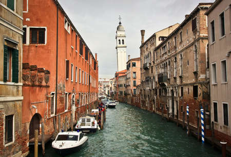 bell tower: Falling bell tower in Venice Stock Photo