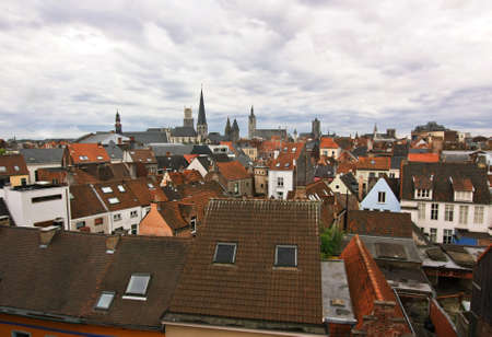 gent: Red rooftops of Gent Stock Photo