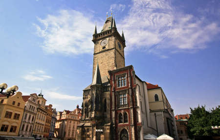Old Town Hall in Prague Stock Photo