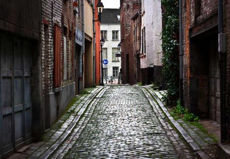 Straße der alten europäischen Stadt Standard-Bild - 65289378