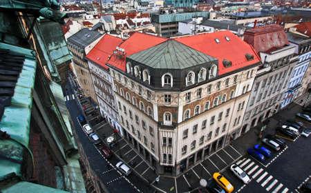 Prag Blick auf die Stadt von Jindrisska Turm Standard-Bild - 69079411