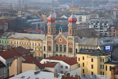 Große Synagoge in Pilsen von Dach Standard-Bild - 69064276