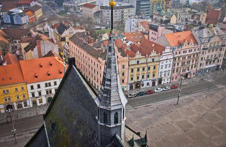 Stadtansicht von Plzen Standard-Bild - 69069518