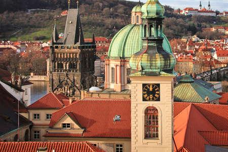 Prague towers Standard-Bild