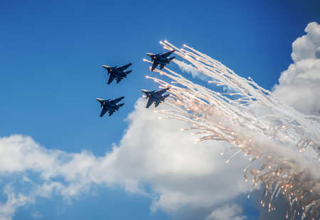 Su-33 military aircraft in the sky