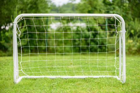 Portable steel mini football goal