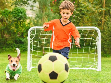 Two players chasing Football ball 版權商用圖片