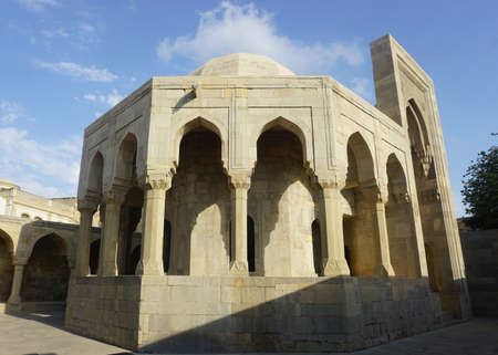 Side View of the Mausoleum at the Shirvanshahs Palace Complex in Baku