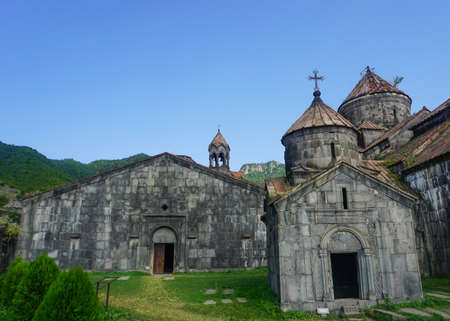 Haghpatavank Monastery Churches View Point in Summer with Blue Sky Stock Photo