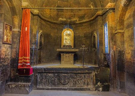 Khor Virap Monastery Main Church Altar with Icon of an Saint