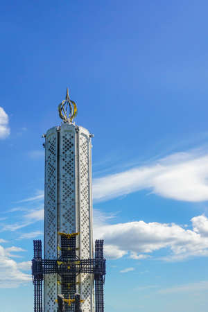 Kiev Holodomor Genocide Monument in Summer Time with Blue Sky View