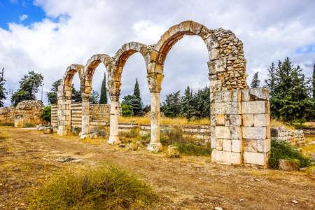 Anjar Citadel Historical Landmark Arched Bows on Pillars with Main Passage Imagens