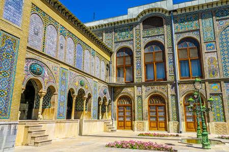 Tehran Golestan Palace Salam Reception Hall Edge and Khalvat-e Karim Khani Nook Outdoor View Point