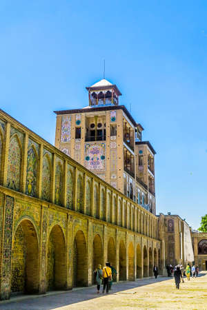 Tehran Golestan Palace Shams ol Emareh Edifice of the Sun Two Towers Building Side View