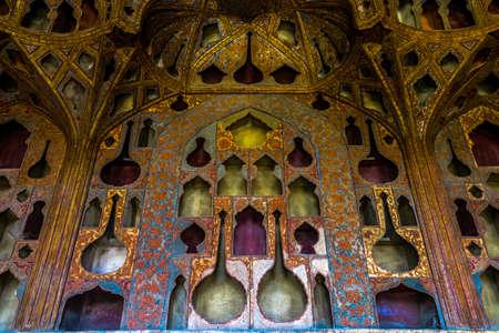 Isfahan Ali Qapu Royal Palace Music Instruments Art Room Ornament Wall Facade