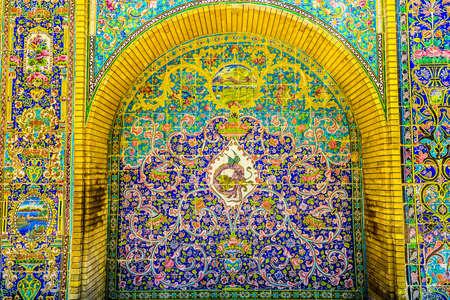 Tehran Golestan Palace Emarat e Badgir Building of Windcatchers Persian Tiles with Ornaments Redakční